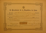 Signed Documents from Cuba